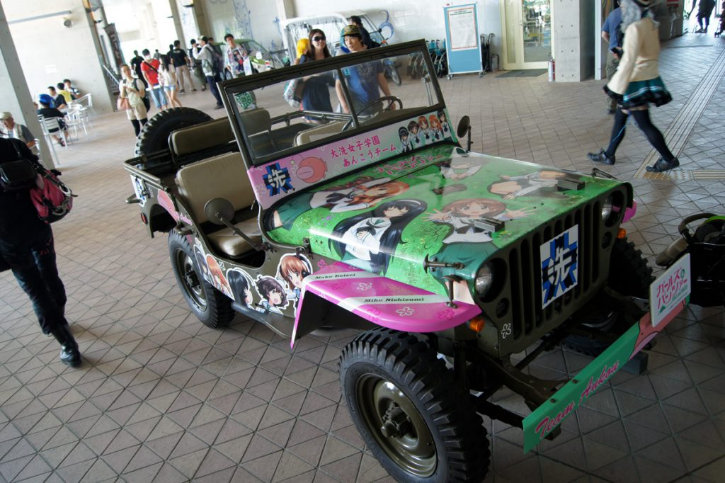 ガールズ&パンツァー 公式痛車のジープ